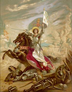 Joan of Arc an Idealised Representation, She Fulfils Merlin's Prophecy That a Virgin Will Come