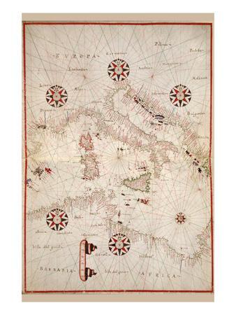 Portolan Atlas of the Mediterranean Sea, Western Europe, and the Northwest Coast of Africa
