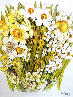 Daffodils, Narcissus, Forsythia and Primroses, 2000 by Joan Thewsey