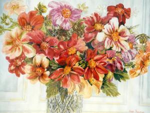 Dahlias by Joan Thewsey