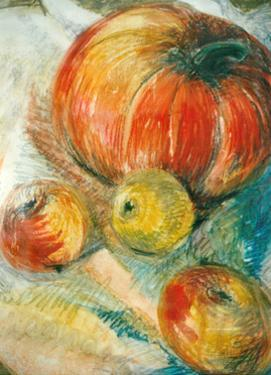 Pumpkin with Apples by Joan Thewsey