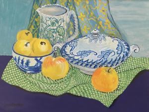 Still life with Tureen and Apples,1999, by Joan Thewsey