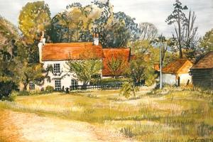 The Pink Cottage, Hedgerley Green by Joan Thewsey