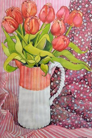 Tulips in a Pink and White Jug, 2005