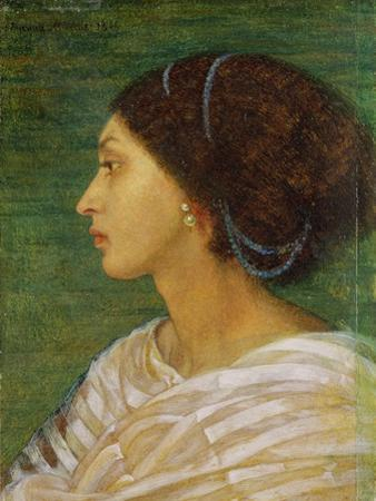 Head of a Mulatto Woman, 1861 (Oil on Paper Laid on Linen)
