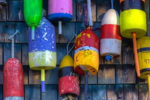 Buoys on an Old Shed at Bernard, Maine, USA by Joanne Wells