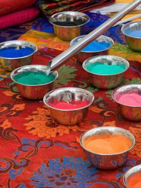 Colored Sand Used by Tibetan Monks for Sand Painting, Savannah, Georgia, USA by Joanne Wells