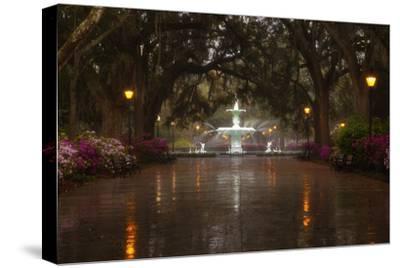Forsyth Park Fountain with Spring Azaleas, Savannah, Georgia, USA by Joanne Wells