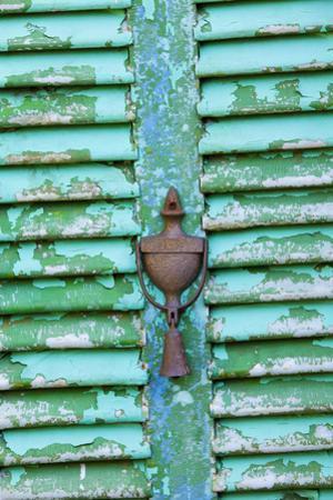 USA, Florida, St. Augustine, Door knocker on an old door. by Joanne Wells