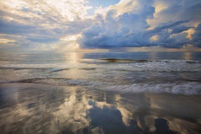 USA, Georgia, Tybee Island, Sunrise and reflections on Tybee Island. by Joanne Wells