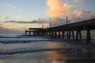 USA, Georgia, Tybee Island, Tybee Pier at sunrise. by Joanne Wells