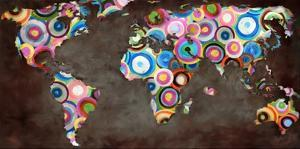 World in circles by Joannoo