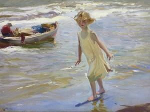 Girl on the Beach by Joaqu?n Sorolla y Bastida