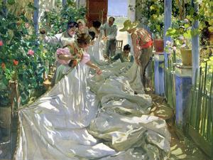 Mending the Sail by Joaqu?n Sorolla y Bastida