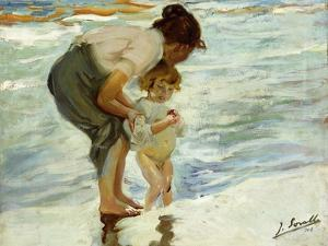On the Beach, 1908 by Joaqu?n Sorolla y Bastida