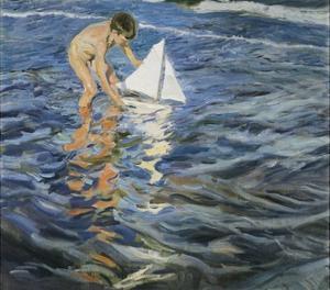 The Little Sloop by Joaqu?n Sorolla y Bastida