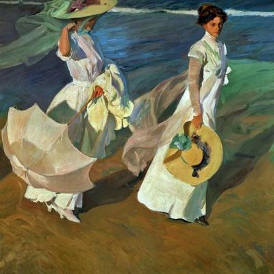 Walk on the Beach, 1909