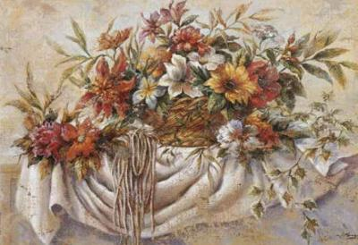 Still Life of Flowers in a Basket