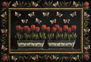 Tulipanes y Mariposas by Joaquin Moragues