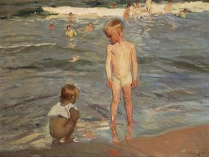 Bathing Children at the Beach of Valencia, 1910 by Joaquin Sorolla