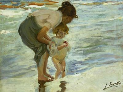 Mother and Child at the Beach, 1908 by Joaquin Sorolla