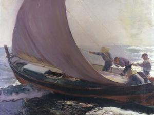 A Gust of Wind, 1904 by Joaquín Sorolla y Bastida