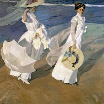 A Walk on the Beach, 1909 by Joaquín Sorolla y Bastida