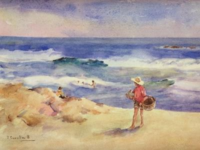 Boy on the Sand by Joaquín Sorolla y Bastida