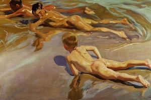 Boys On the Beach, 1910 by Joaquín Sorolla y Bastida