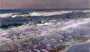 Efecto de Manana en el Mar (Valencia), 1908 by Joaquín Sorolla y Bastida