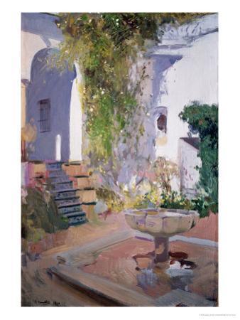 Garden Grotto, Alcazar de Seville, 1910 by Joaquín Sorolla y Bastida