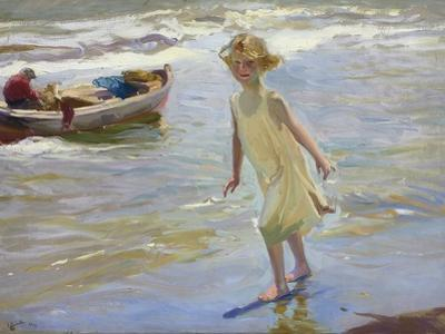 Girl on the Beach by Joaquín Sorolla y Bastida