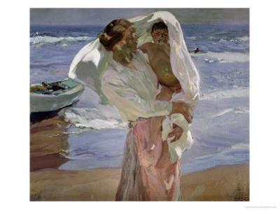 Just Out of the Sea, 1915 by Joaquín Sorolla y Bastida