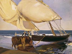 Launching the Boat by Joaquín Sorolla y Bastida