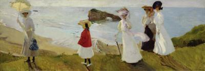 Lighthouse Walk at Biarritz, c.1906 by Joaquín Sorolla y Bastida