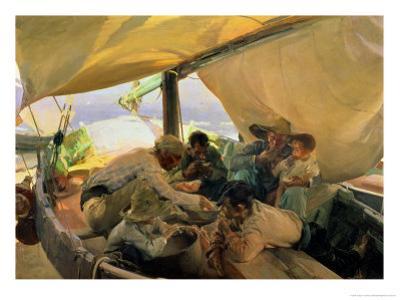 Lunch on the Boat, 1898 by Joaquín Sorolla y Bastida