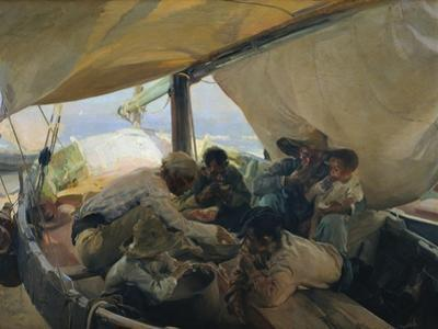 Lunch on the Boat by Joaquín Sorolla y Bastida