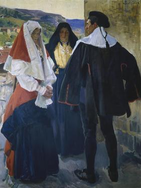 People from Roncal by Joaquín Sorolla y Bastida