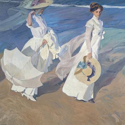 Seaside Stroll by Joaquín Sorolla y Bastida