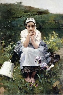 The Milkmaid, C.1890 by Joaquín Sorolla y Bastida