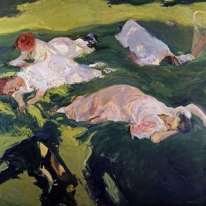 The Siesta, 1912 by Joaquín Sorolla y Bastida