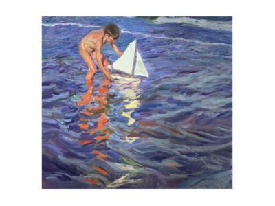 The Young Yachtsman, 1909 by Joaquín Sorolla y Bastida