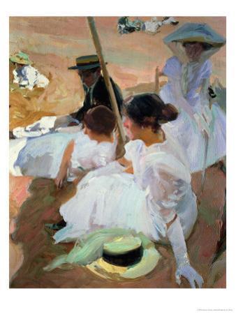Under the Parasol, Zarauz, 1910 by Joaquín Sorolla y Bastida