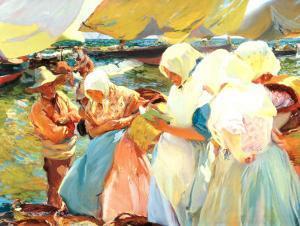 Valencian Women on the Beach by Joaquín Sorolla y Bastida