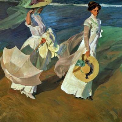 Walk on the Beach, 1909 by Joaquín Sorolla y Bastida