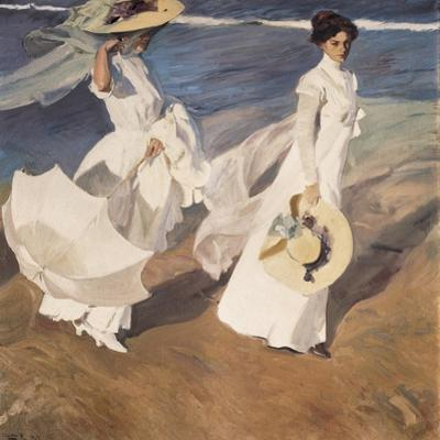 Walk on the Beach by Joaquín Sorolla y Bastida