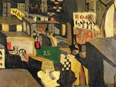 Barcelona street scene, 1917