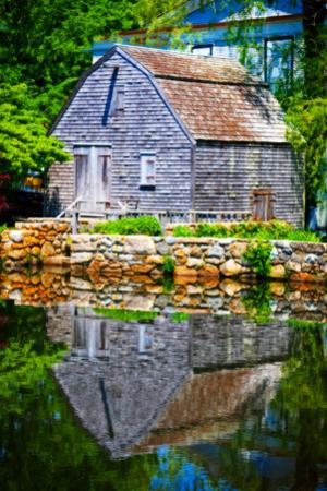 Old Grist mill Portrait by Jobe Waters