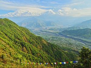 Annapurna Himal and Machapuchare Seen from Sarangkot, Gandaki Zone, Western Region, Nepal by Jochen Schlenker