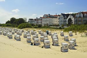Beach Chairs, Bansin, Usedom, Mecklenburg-Vorpommern, Germany, Baltic Sea, Europe by Jochen Schlenker